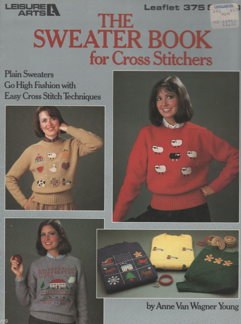 Primary image for The Sweater Book for #375 CROSS STITCH by Anne Van Wagner Young