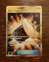 x1 Fiery Flint 76/70 Dragon Majesty Secret Rare Full Art Pokemon Card NM  - $19.99