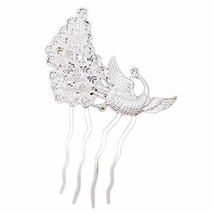 2 Pcs Silver Peacock Metal Side Comb Chinese Style Wedding Veil Hair Clip Comb H