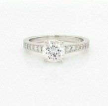 Hearts on Fire CZ Engagement Ring w/Dia's. 18K White Gold $2,700 Retail ... - $1,633.50