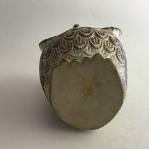 "Vintage Ceramic Owl Flower Vase Figurine 5.5"" X 3"" Brown & Cream Big Black Eyes image 4"