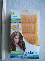 4 Conair AdjustaCurl Root Volumizer Self Grip Rollers Volume Curls Hair Curlers - $10.00