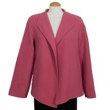 EILEEN FISHER Autumn Rose Pink Wool Cashmere Asymmetrical Open Jacket M - $169.99