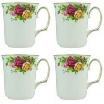 Royal Albert Old Country Roses Bristol Beaker MUG Four Mugs (4) New with... - $134.64