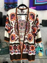 ESCADA Multi Color Floral Print Open Front Cardigan/Sweater Sz 36/US 6 $500 - $178.10