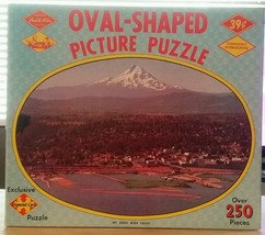 Vintage, Mt. Hood River Valley, Oval, Warren Built Rite Jigsaw Puzzle - $13.10