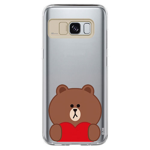 LINE Friends Light UP Case Galaxy S8 / S8+ Character Phone Cover Mobile Skin Acc