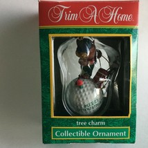Vintage Trim a home Tree Collectible Ornament Charm-Golf Golfer  - $10.84
