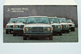 1983 mercedes 380sl 300cd  380sec owners brochure price card w107 w123 w126 - $34.64