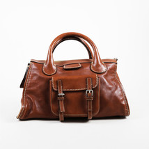 "Chloe Fall 2006 ""Ecureil"" Brown Leather Top Handle ""Edith"" Satchel Bag - $505.00"