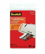 """Scotch Thermal Laminating Pouches 4.37 """" x 6.36 Inches 20 Pouches TP5900... - $8.25"""