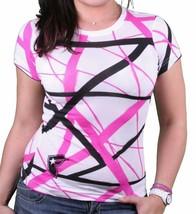 Famous Stars & Straps Donna Bianco Nero Rosa Ews Tutti Sopra T-Shirt Piccolo Nwt