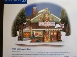 Department 56 Totem Town Souvenir Shop 55053 Christmas Snow Village New Lnib - $68.26