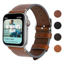 Apple Watch Band Series 4 iWatch Vintage Calf Leather 40mm 44mm Watchstraps - $22.78+