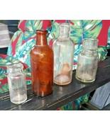 4 Antique Bottle OLD Hazel Atlas APOTHECARY Prohibition MEDICINE Whiteha... - $49.49