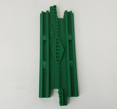 FISHER PRICE GEO TRAX GREEN STRAIGHT TRACK ROAD PLASTIC REPLACEMENT PIEC... - $5.00