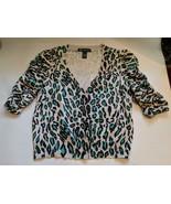 INC International Concepts Macy's Leopard Animal Print Sequins Crop Sweater - $19.75