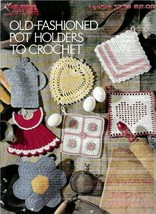 Old Fashioned Pot Holders to Crochet Grandmas Kitchen Book1 Vintage 1990 - $7.99