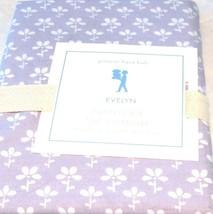 Pottery Barn Kids Evelyn Lavender Pillowcase Standard 20 x 30 NIP Flower Purple - $23.74