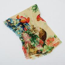 GUCCI Shawl Stole Scarf Floral Flower Wool Silk Women Luxury Unused Auth... - $901.98