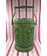 FAB Vintage MoD 1970's Faux Wood Grain and 3D Grape Design Ice Bucket Ho... - $10.00
