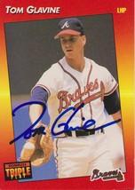 Tom Glavine Signed Autographed 1992 Donruss Triple Play Baseball Card - ... - $14.99
