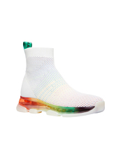 Michael Kors Kendra Athletic Stretch-Knit Mesh Rainbow Sock Sneaker Shoes image 3