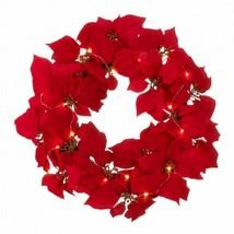 Fairy Lights Poinsettia Wreath - $58.54