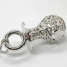 Silver 925 Necklace with Hanging Charm Pacifier Perforated & Knit by Mary Jane image 3