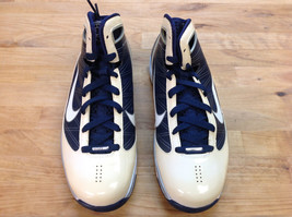 NIKE Womens Hyperize Navy/White/Silver Shoes Size 7 - $45.53