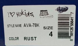 I Love Yo Kids AVA 78K Girls Fringe Boot Rust Silver Studded Size 4 image 9