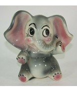 Vintage Ceramic Elephant Piggy Bank - $29.65