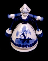 Beautiful  Delft Porcelain Milk maiden  Bell hand painted in Holland - $15.99