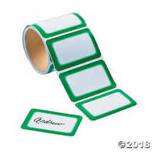 Green Self-Adhesive Name Tags/Labels - $14.98