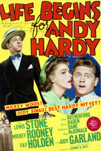 Mickey Rooney and Judy Garland in Life Begins for Andy Hardy 16x20 Canva... - $69.99