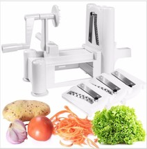 Tri-blade Plactic Vegetable Slicer Spiral Cutter Peeler Spiralizer Kitch... - €23,20 EUR