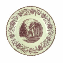 Wedgwood Cedar Crest College Plate Administration Building Red Transferw... - $37.04