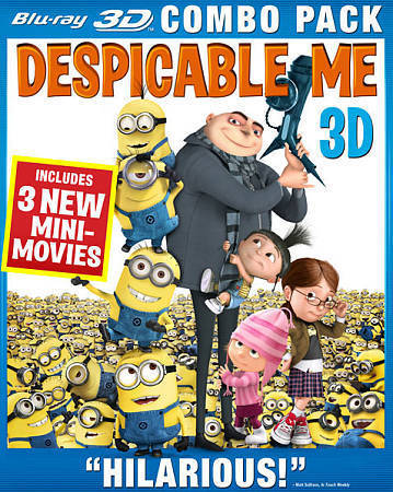 Despicable Me (Blu-ray 3D + Blu-ray + DVD) (2010)