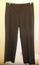 "Women's Size 14 Inseam 29.5"" CHARTER CLUB BROWN Pinstripes Dress Pants -... - $10.84"