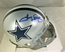 TONY DORSETT / NFL HALL OF FAME / HAND SIGNED DALLAS COWBOYS CUSTOM JERSEY / COA image 1