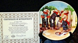 """1984 """"A Coat of Paint"""" by Jeanne Down Plate with Box ( Knowles ) AA20-CP2192 Vin image 2"""