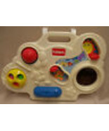 Playskool Busy Box Crib Playpen Toy 1992 White & Colors - $9.40