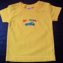 Baby Tee Sturgis Motorcycle Infant Boys Rabbit Skins TShirt 6 mo's. yellow - $9.48