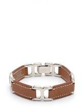 Hermes bracelet Epsom Brown Silver C Auth - $555.86