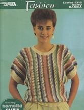 Leisure Arts 1318 FASHION Sweater & Vest featuring nomotta SASKIA Leaflet 1986 - $4.95