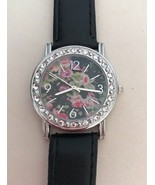 NEW Toni 20 Crystal Watch—Beautiful Floral Face - $9.49