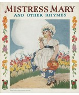 Mistress Mary and Other Rhymes 1940 Samuel Gabriel Sons Picture Book - $14.84
