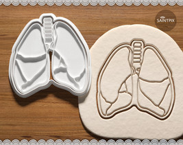 Lungs. Anatomical Cookie Cutter. Bakeware. 3D Printed. Embosser. Soap St... - $8.99