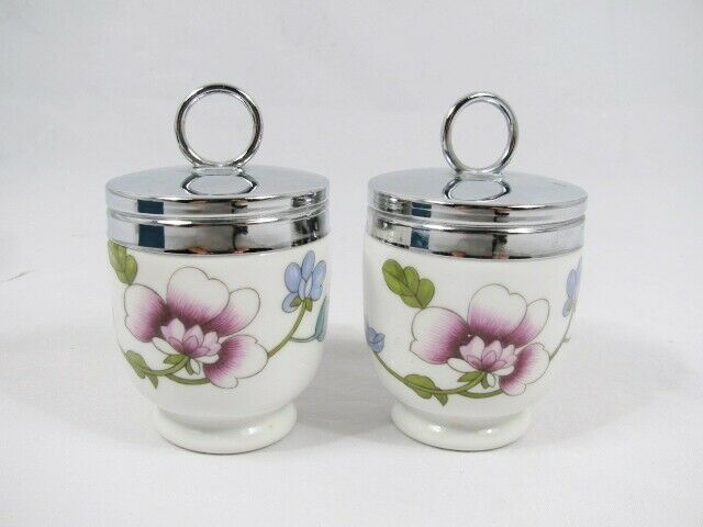 Royal Worcester Astley Flameproof Porcelain Egg Coddler Set England