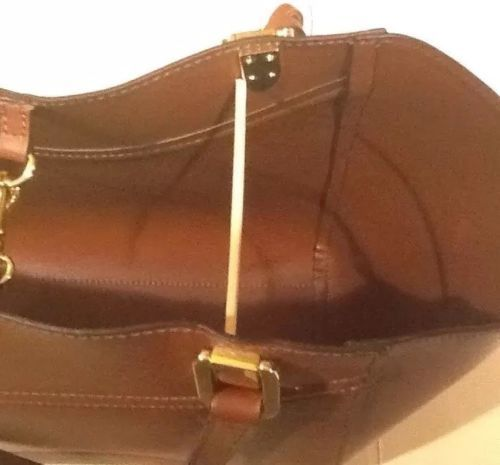 Lauren Ralph Lauren Lexington Shopper Tote Handbag Bourbon LRL Luggage Tag  NWT b6ca37ad385ca